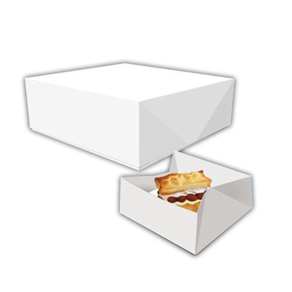Caixa para pasteis branca